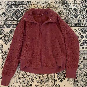 Fuzzy but light zella jacket